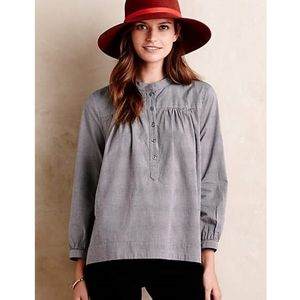 Anthropologie Maeve Saco Gingham Tunic Blouse
